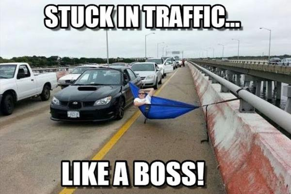 When you are stuck in a traffic jam…
