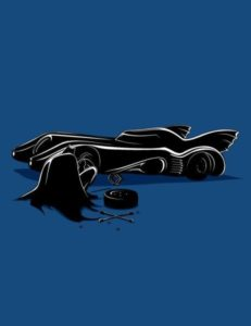 Bats fixing batmobile
