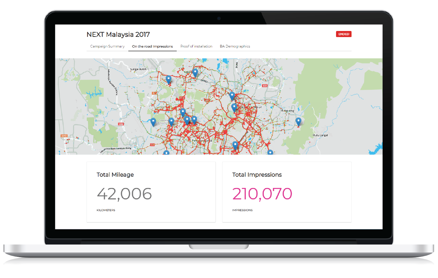 advertiser dashboard on the road