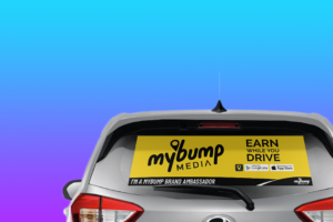 Car Window Sticker Rear View Promotion - MyBump Media