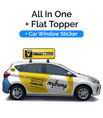 All in One Car Wrap with Flat Topper and Car Window Sticker