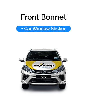 Front Bonnet Car Wrap and Car Window Sticker