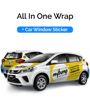 All In One Car Wrap and Car Window Sticker