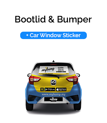 Bootlid and Bumper Car Wrap with Car Window Sticker