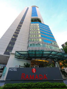 Entrance to Ramada Suites KLCC