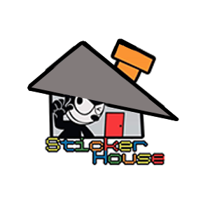 sticker house